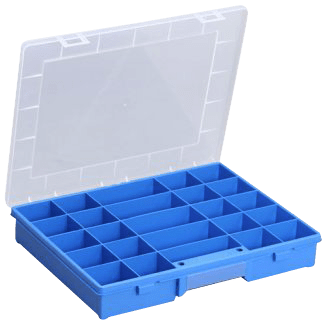 Open fronted storage bins, Allit assortment box, EuroPlus Basic 37 / 25