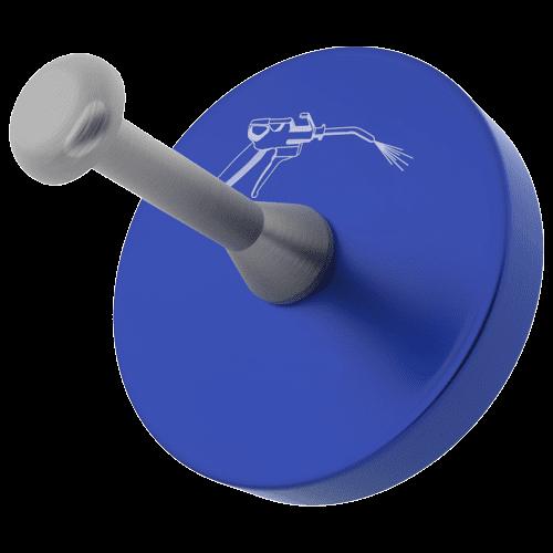 Blow gun holder with rubberized underside
