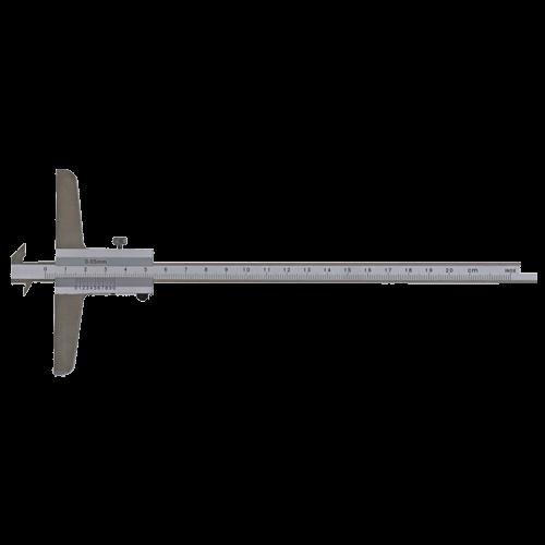 Tiefenmessschieber mit Doppel-Haken, analog, DIN 862, C060
