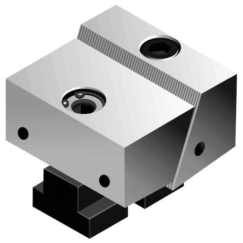 Movable vice jaw, plain, for type MFS