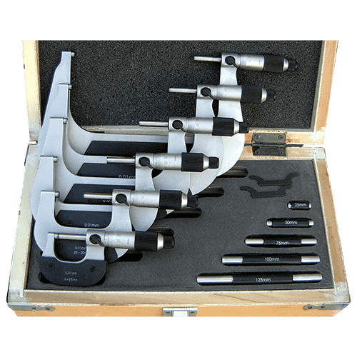Outside micrometer set analog with friction ratchet M101