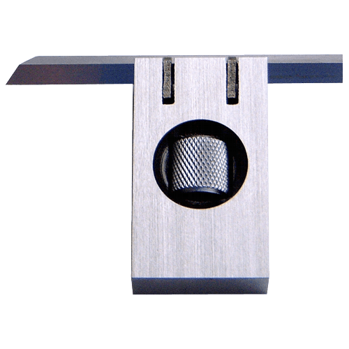 Knife edge square DIN 875/0, adjustable, with ruler 4 x 4 x 60