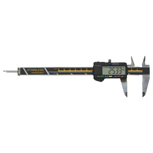 Digital caliper for left-handed people, DIN 862, type 621