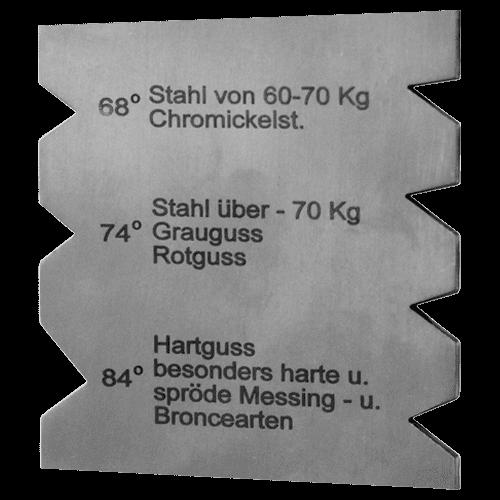 Drehstahl - Schleiflehre