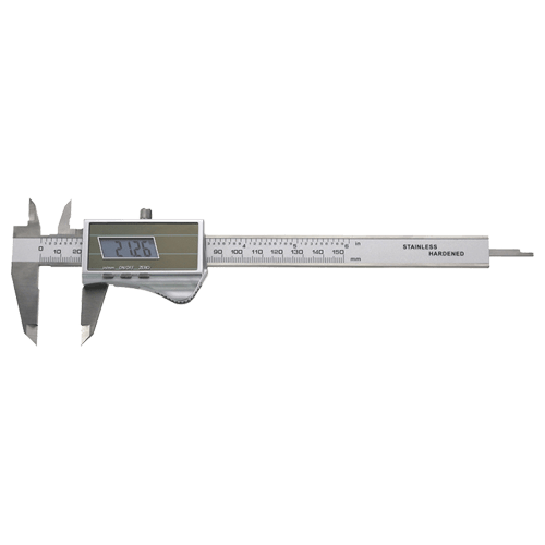 Digital caliper with solar cell and buffer battery, type 620