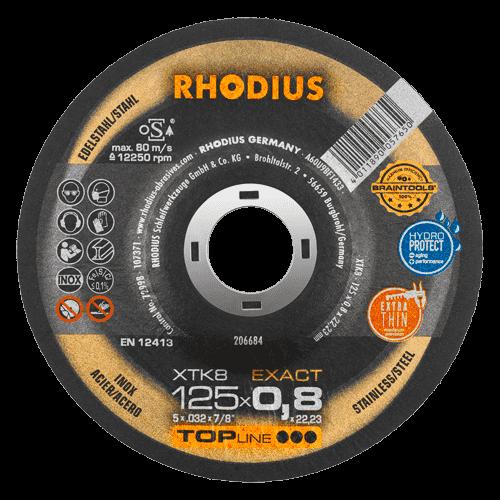 RHODIUS Trennscheibe XTK8, Ø125 x 0,8 x 22,23 mm, gekröpft