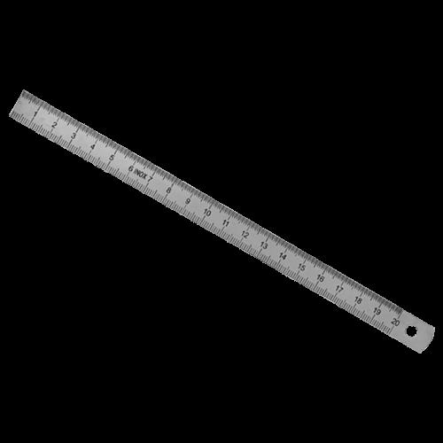 Biegsamer Stahlmaßstab aus rostfreiem Federbandstahl, mm-Teilung, Typ 459