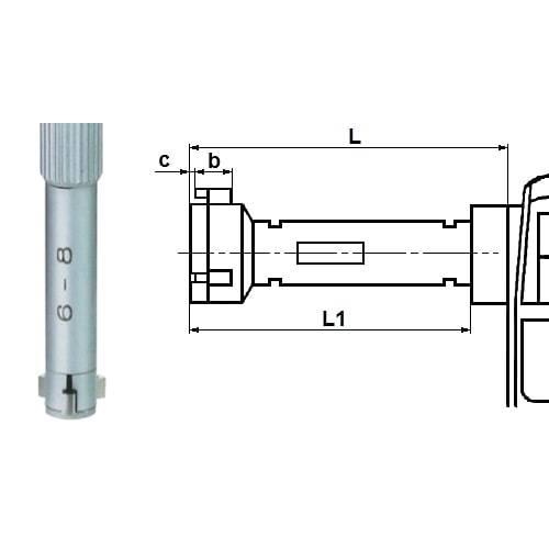 Digitale 3-Punkt-Innenmessschrauben Typ 6558
