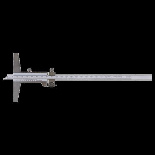 Tiefenmessschieber analog, mit Feineinstellung, DIN 862, Typ C054