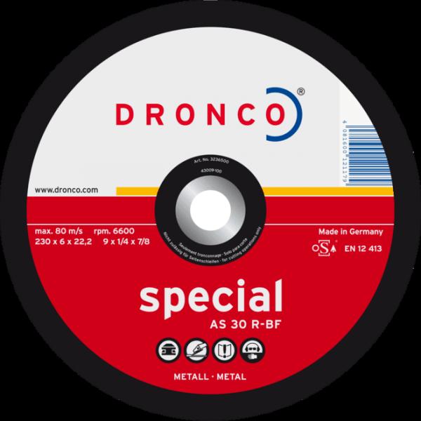 DRONCO Schruppscheibe AS 30 R-BF, Ø125 x 4,0 x 22,23 mm, gekröpft