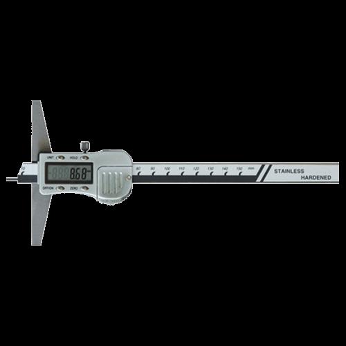 Digitaler Tiefenmessschieber mit Spitze und Metallgehäuse, Din 862, Typ 6046