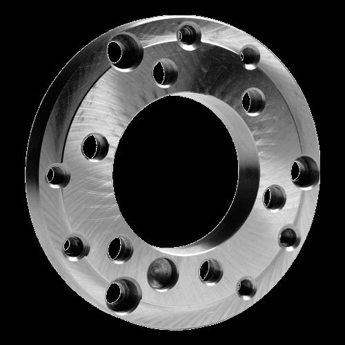Drehmaschinen-Flansche DIN 55026, fertig bearbeitet