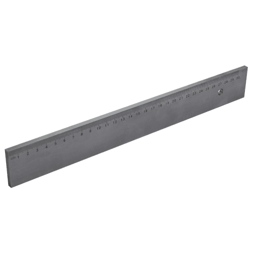 Arbeitsmaßstab DIN 866 Form B, mit mm-Teilung, ohne Facette, Typ 434
