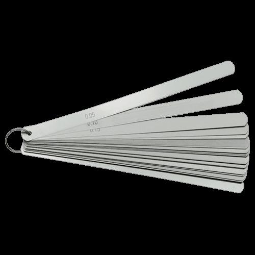 Präzisions Fühlerlehrensatz am Ring, Stahlblätter zylindrisch, Typ F82