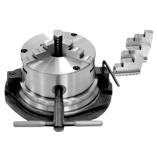 3 jaw chuck VSR on turning plate