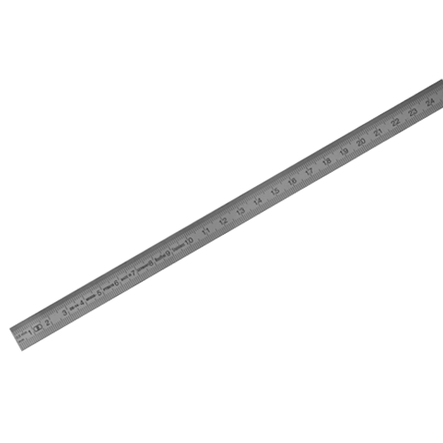 Präzisions-Stahlmaßstab rostfrei, EG-Klasse II, Typ 450