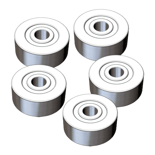 deburring miller, ball bearing for miller axis / set of 5