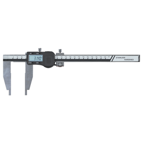 Digital workshop caliper without tips, with fine adjustment, type 6032