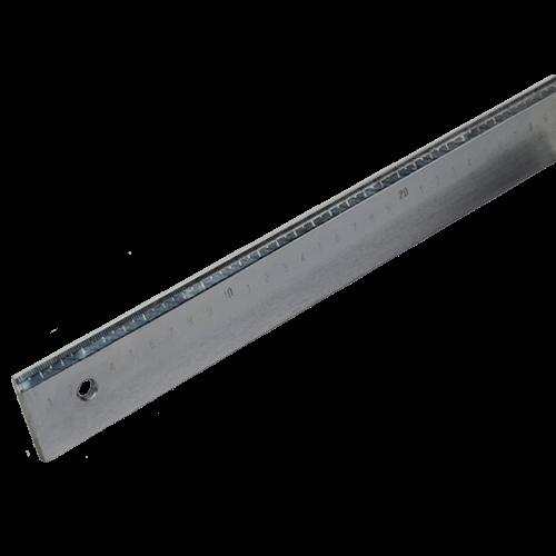 Werkstattlineal aus Stahl, mm-Teilung und Facette, Typ 433