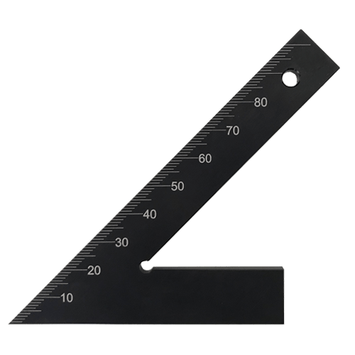 45 degree acute angle without stop, DIN 875/1 made of hardened aluminium