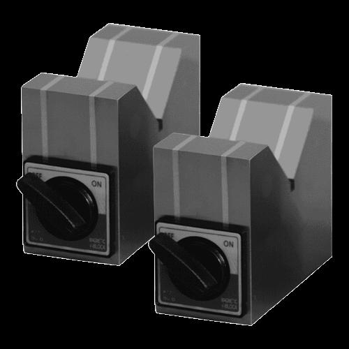 1 Paar Prismenblöcke magnetisch mit Schalter