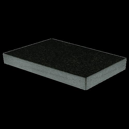 Mess- und Kontrollplatte aus dunklem Granit, Typ 518