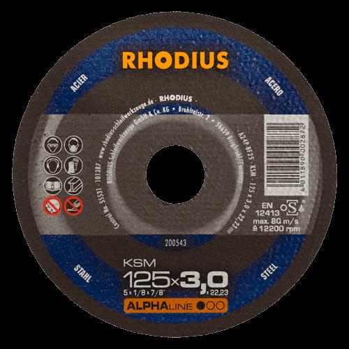 RHODIUS Trennscheibe KSM, Ø125 x 3,0 x 22,23 mm, gerade