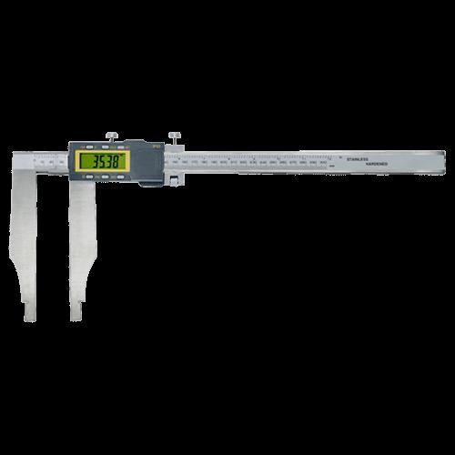 Digitaler Werkstatt-Messschieber ohne Spitzen, mit Feineinstellung, DIN 862, Typ 6105
