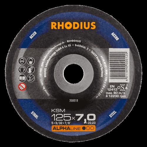 RHODIUS Schruppscheibe KSM, Ø125 x 6,0 x 22,23 mm, gekröpft