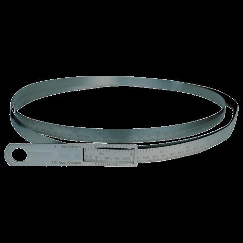 Umfangmaßband aus rostfreiem Stahl, DIN 2768 m, Typ 457