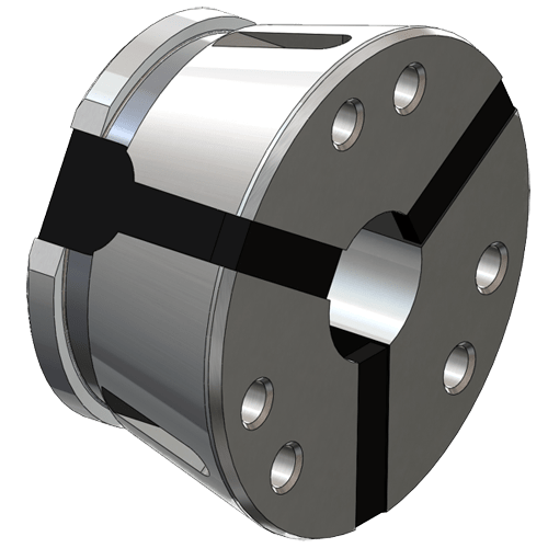 Clamping head SK 100 round, swivel out without stem