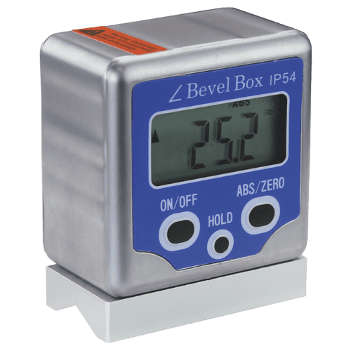 Digital Neigungsmessgerät IP54 mit Magnet und Prismenfuß