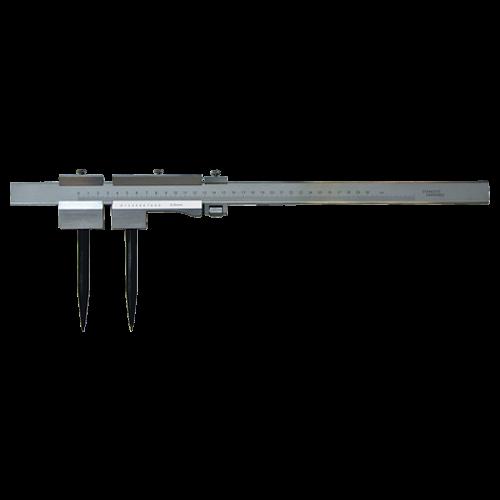 Stangenzirkel INOX mattverchromt, mit Feineinstellung
