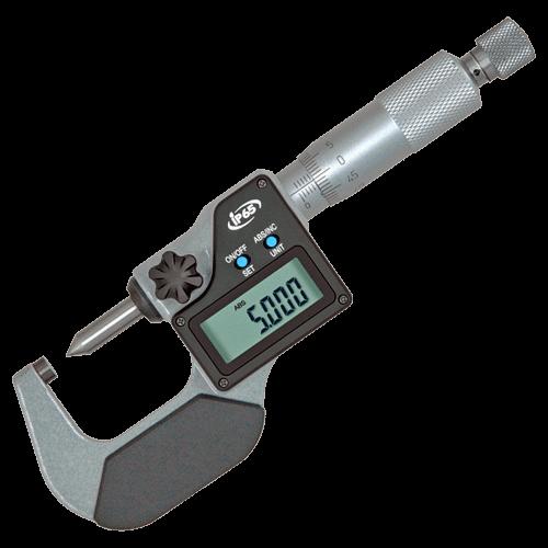 Digitale Bügelmessschraube mit Kegelspitze, IP 65, Typ 6077