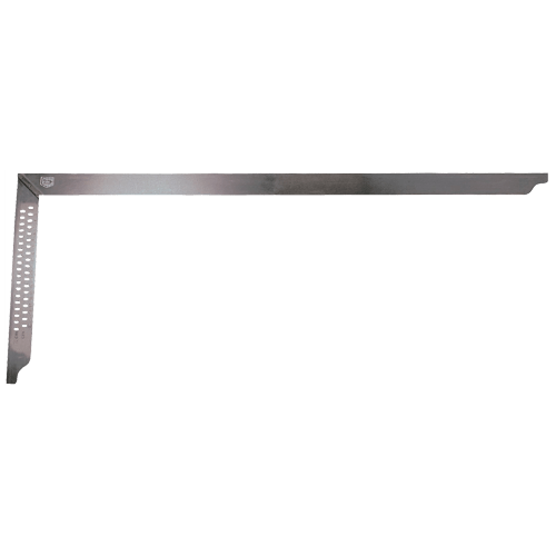 Carpenter's steel square 35mm wide, stainless steel