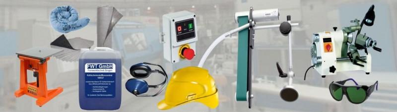 Maschinen, Werkzeuge und Umweltprodukte als Werkstattbedarf