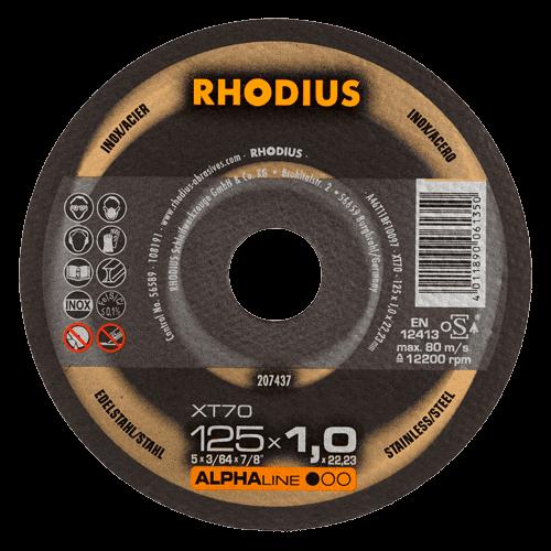 RHODIUS Trennscheibe XT70, Ø125 x 1,0 x 22,23 mm, gerade
