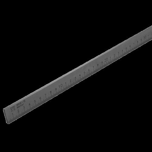 Präzisions - Arbeitsmaßstab DIN 866/2 Form B mit mm-Teilung