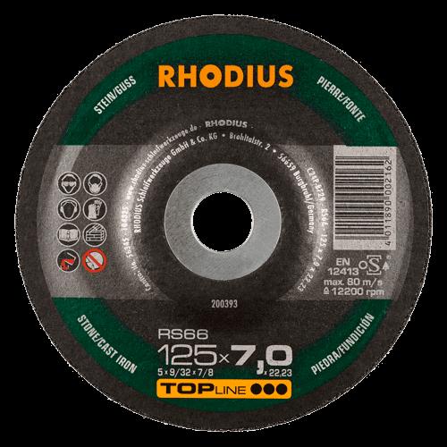 RHODIUS Schruppscheibe RS66, Ø125 x 6,0 x 22,23 mm, gekröpft