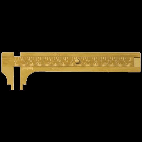 Messing Schieblehre für Knopfmaße, Typ 615/10