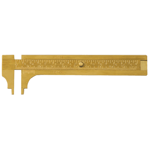 Brass calliper for knob dimensions, type 615/10