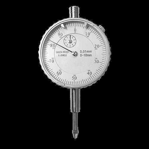 Precision dial indicator, range 10 mm, reading 0.01 mm, type 634