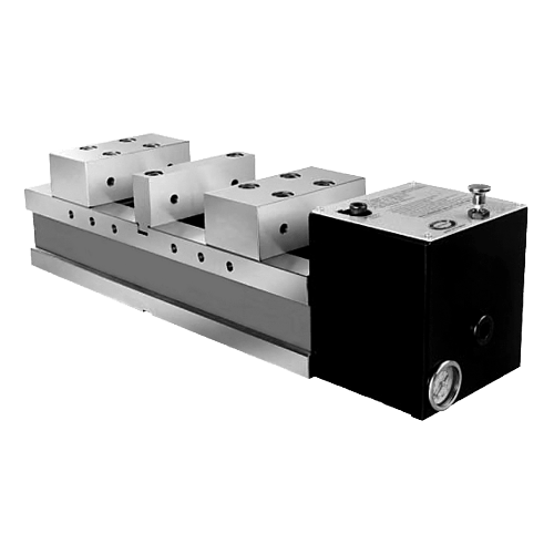 ZENTRA Pneumatik Schraubstock Typ DPSP 130, Doppelspanner
