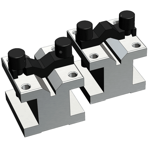 1 pair of prism blocks with clamping bracket