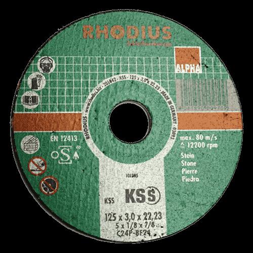 RHODIUS cut-off wheel KSS, Ø125 x 3.0 x 22.23 mm, straight