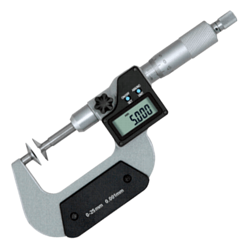 Outside micrometer with disk measuring surfaces M604