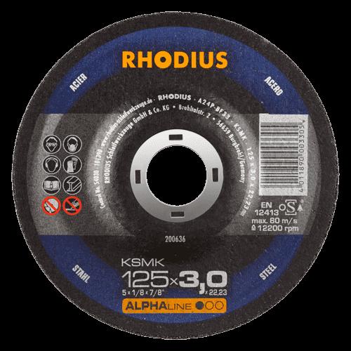 RHODIUS Trennscheibe KSMK, Ø125 x 3,0 x 22,23 mm, gekröpft