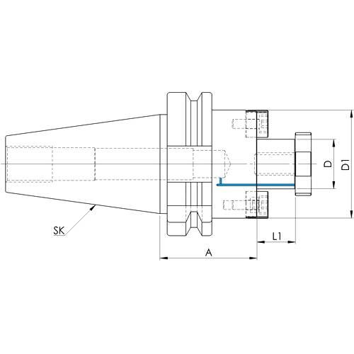 Messerkopfaufnahme MAS BT 403