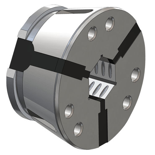 Clamping head SK 32 hexagon, cross grooved without stem