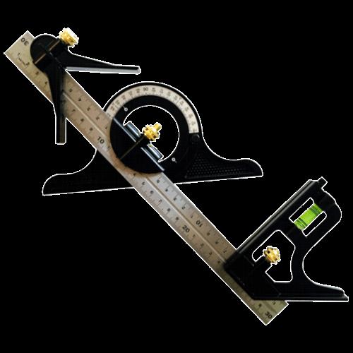 Kombiwinkel mit Wasserwaage/Winkelmessgerät, 300mm